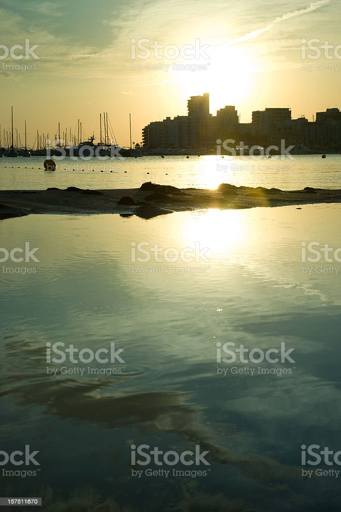 Port San Antonio, Ibiza stock photo
