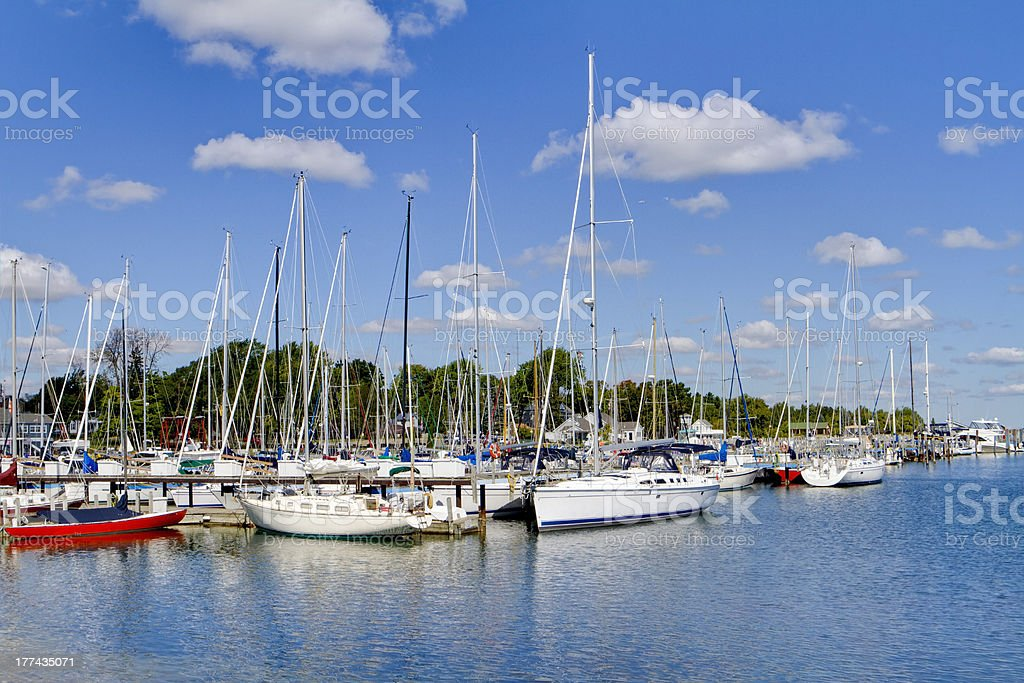 Port Sanilac Harbor HDR royalty-free stock photo