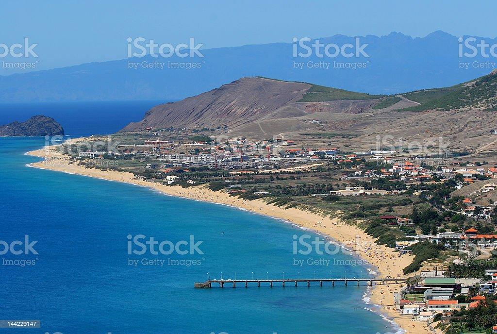 Porto Santo Beach royalty-free stock photo