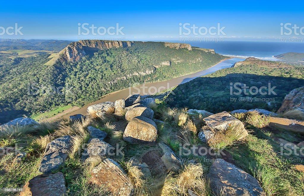 Port St Johns River stock photo