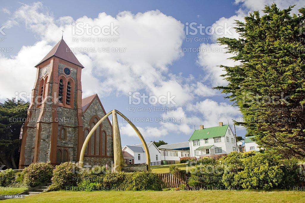 Port Stanley Church Falkland Islands stock photo