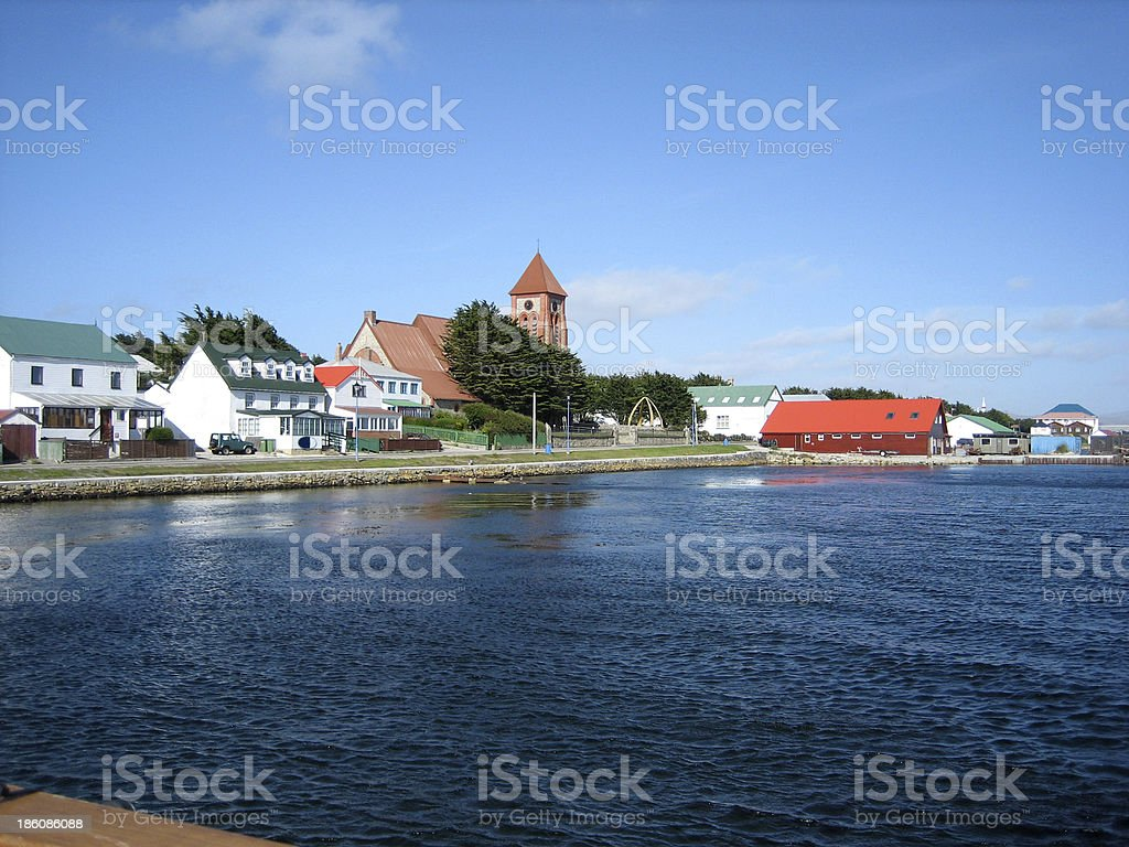 Port Stanley, Falkland Islands stock photo