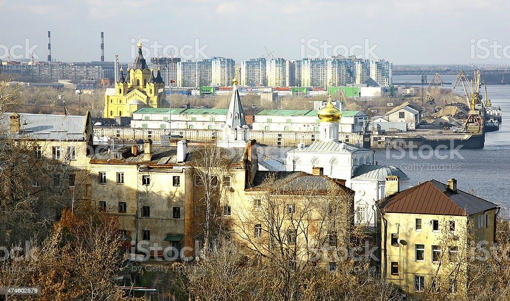 Port Strelka Nizhny Novgorod Russia royalty-free stock photo