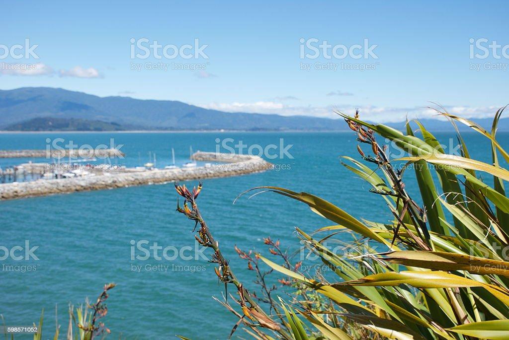 Port Tarakohe, Pohara, Takaka, Golden Bay, New Zealand stock photo