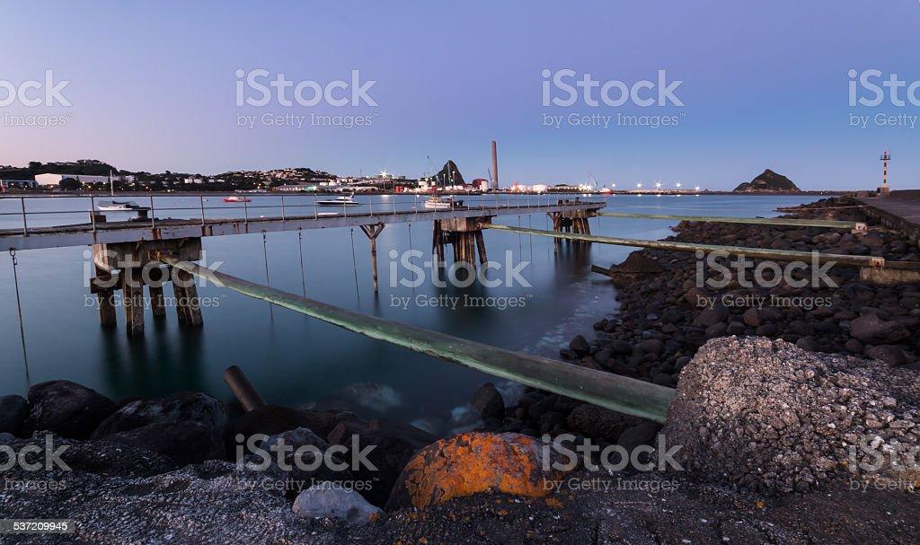 Port Taranaki stock photo
