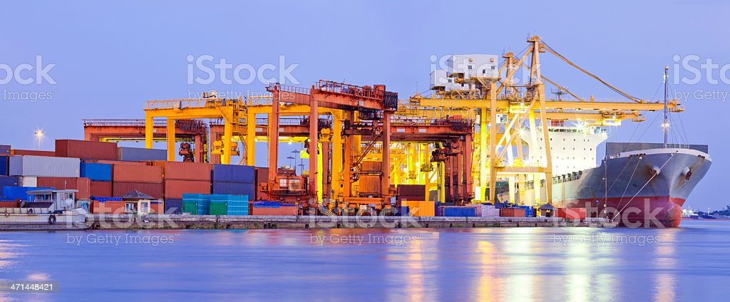 Port Terminal Panorama Industry royalty-free stock photo