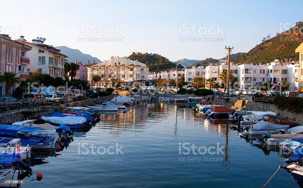 port town stock photo