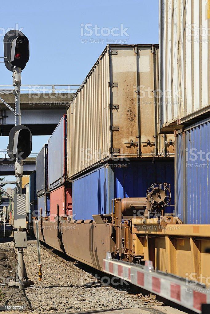 Port Train royalty-free stock photo
