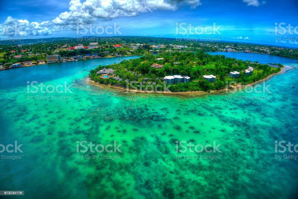 Port Vila Bay- Vila,Vanuatu stock photo