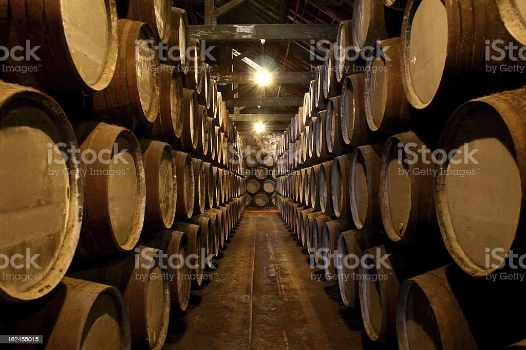 Port Wine Cellar stock photo