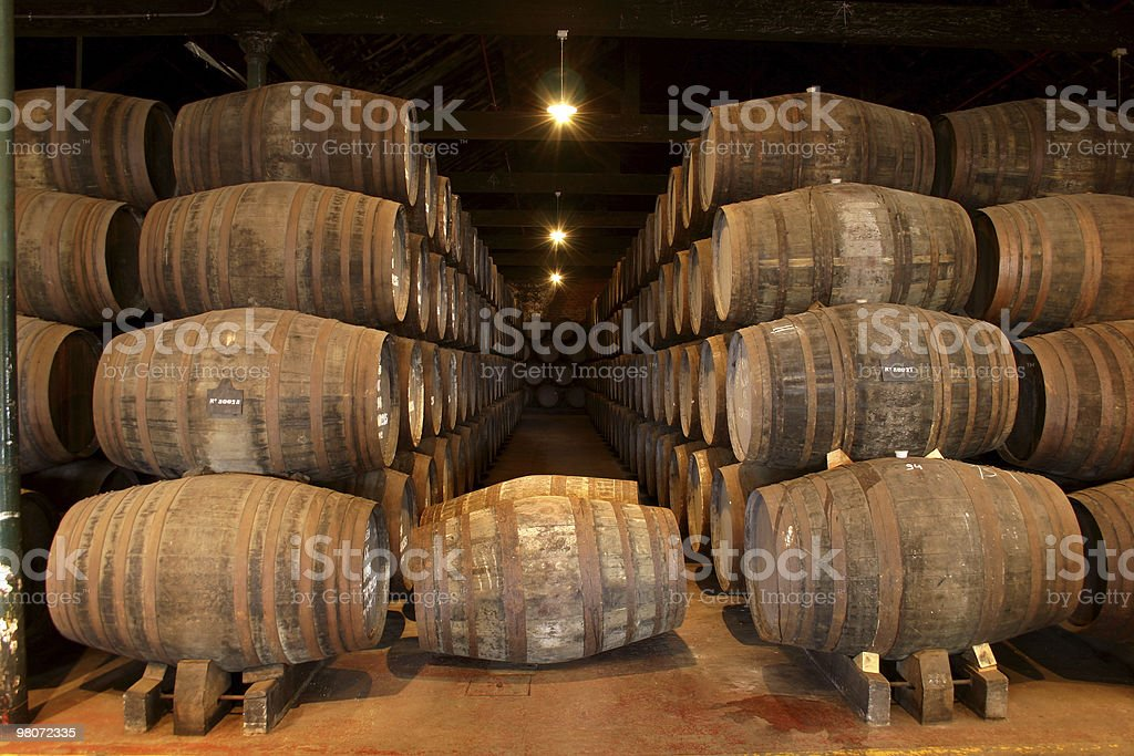 Port Wine Cellars royalty-free stock photo