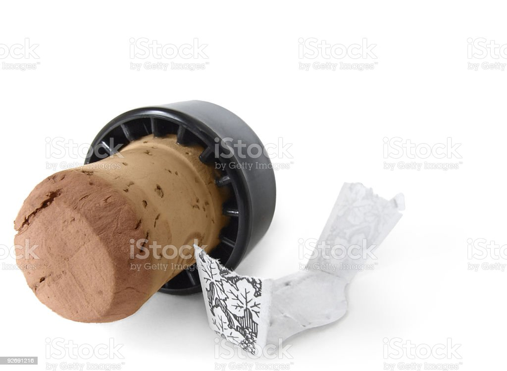 Port Wine – Cork And Label royalty-free stock photo