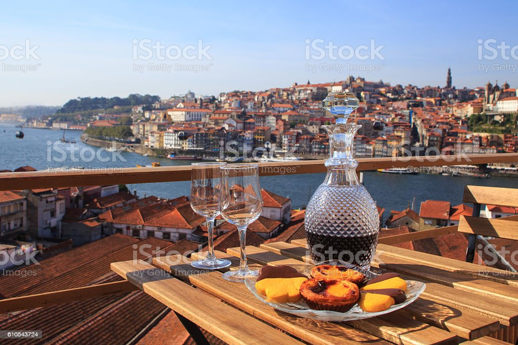 Port wine with a view stock photo