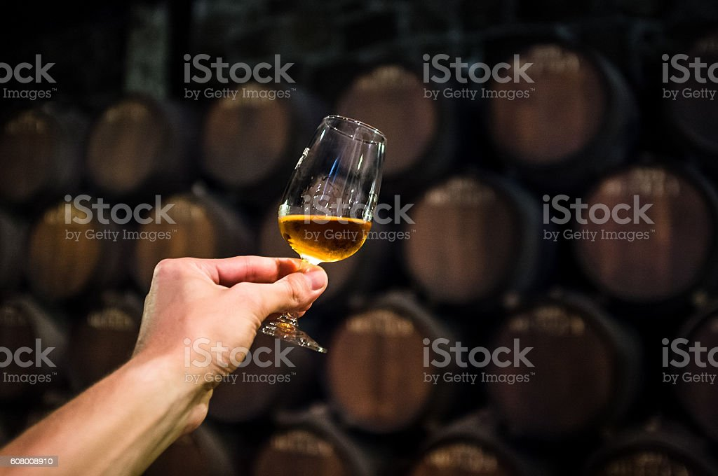 port wine with glass stock photo