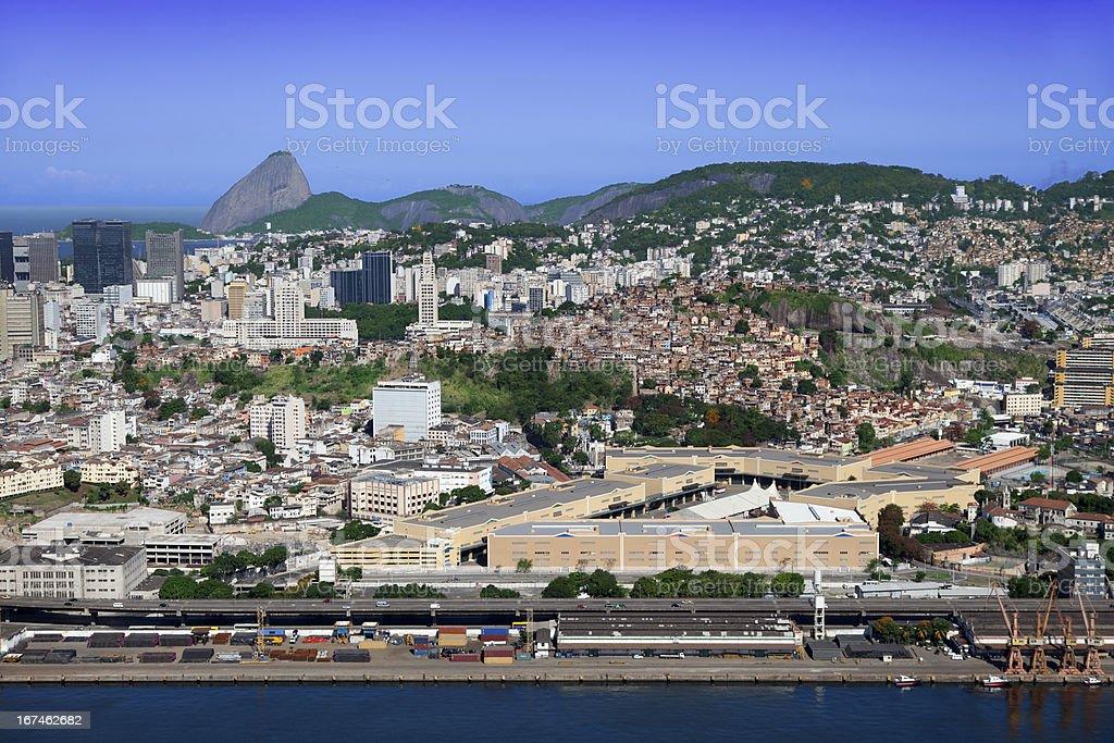 Port zone in Rio de Janeiro royalty-free stock photo