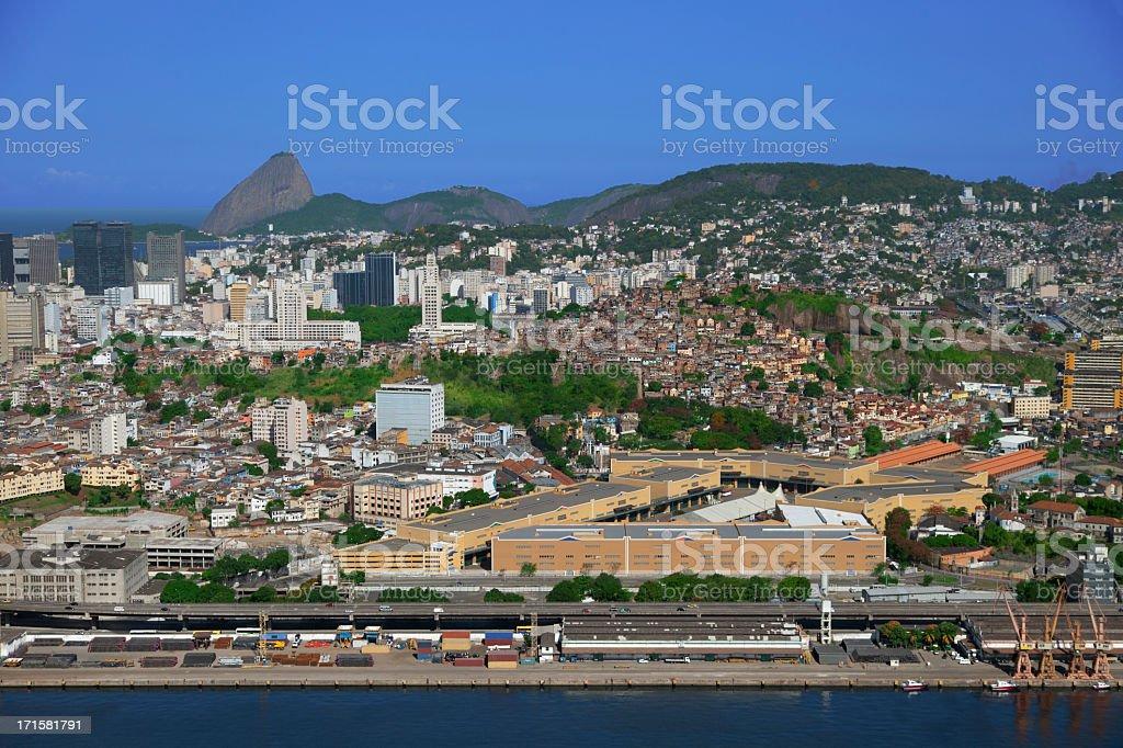 Port zone in Rio de Janeiro stock photo