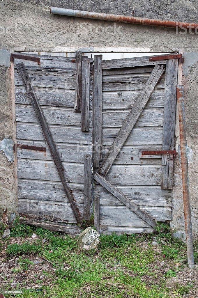Porta, Antico, Toscana, casa abbandonata, Italia stock photo