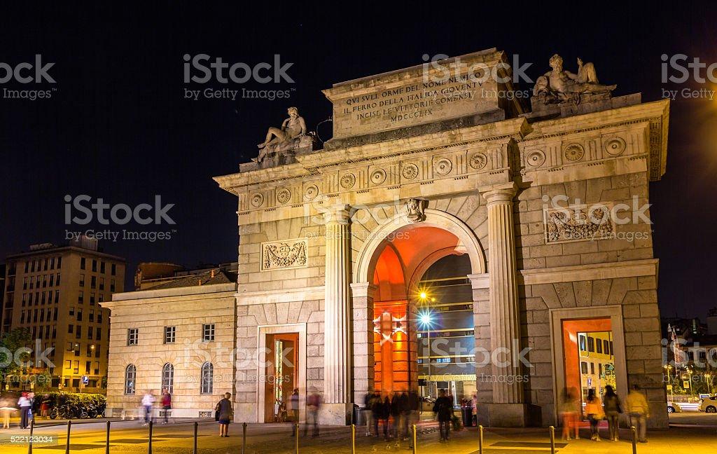 Porta Garibaldi in Milan, Italy stock photo