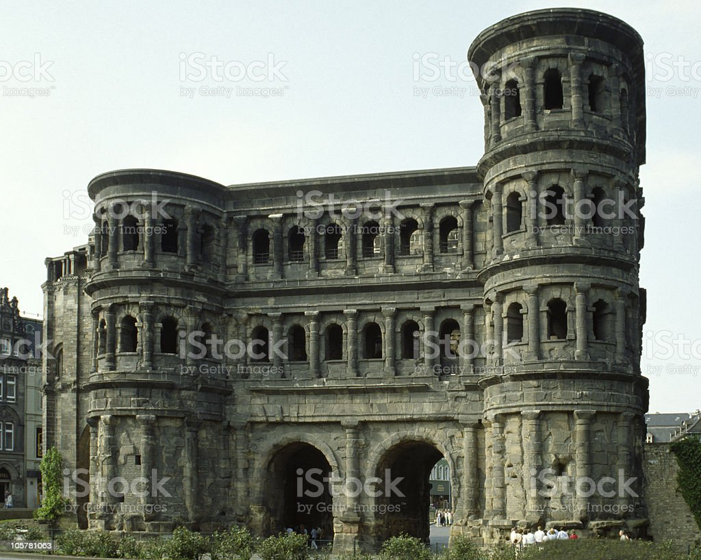 Porta Nigra in Trier frontside royalty-free stock photo