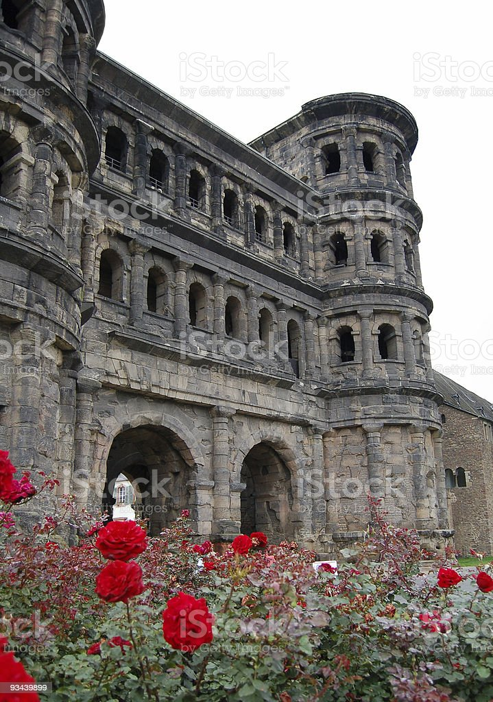 Porta Nigra in Trier Germany stock photo