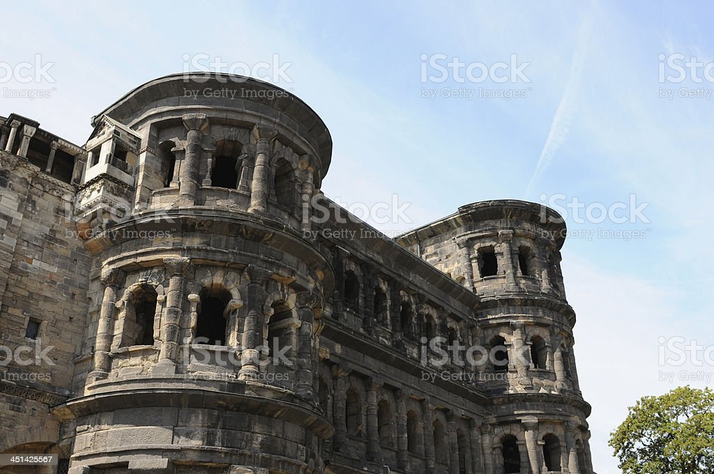 Porta Nigra in Trier (Germany) stock photo