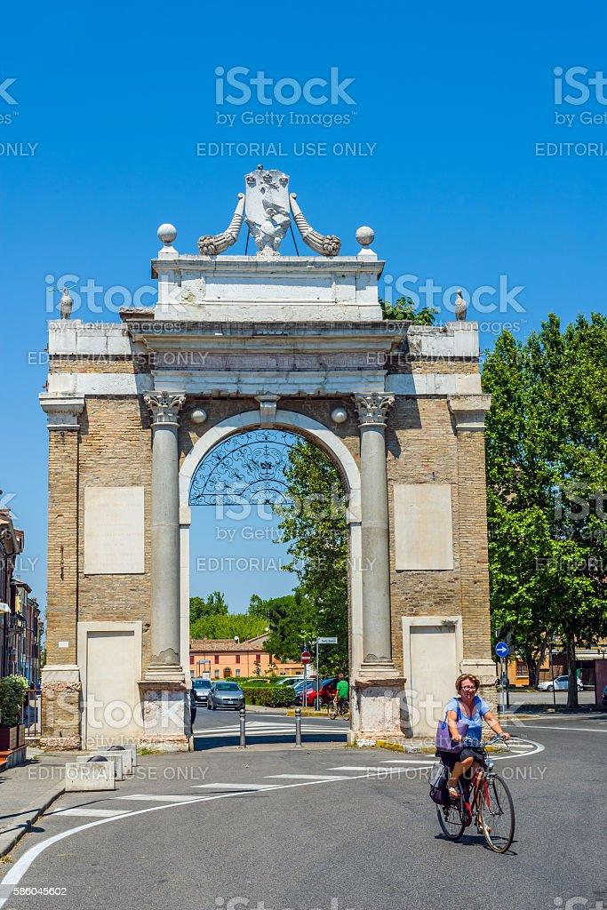 Porta Nuova gate of Ravenna, Emilia-Romagna. Italy. stock photo