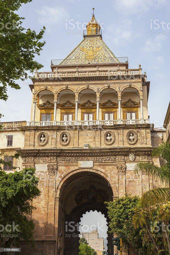 Porta Nuova in Palermo, Sicily Italy stock photo