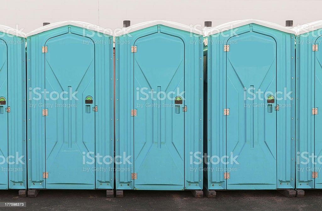 Porta Pottie Line Up stock photo