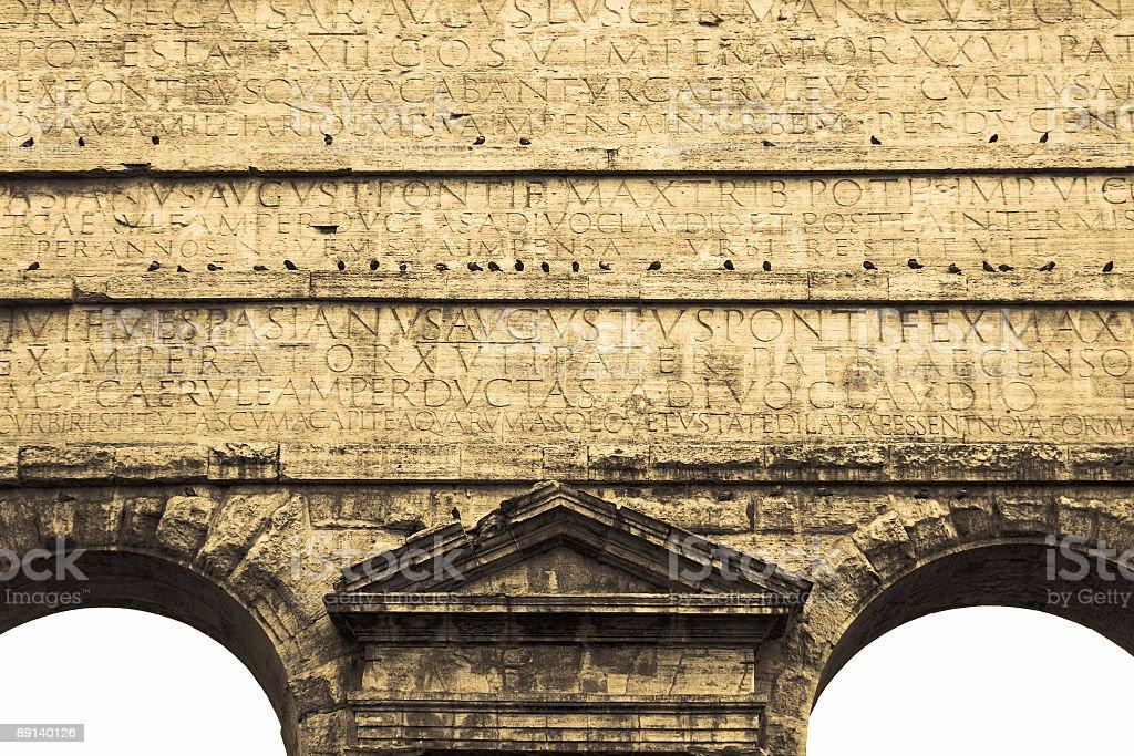 Porta Prenestina Rome Aqueduct stock photo