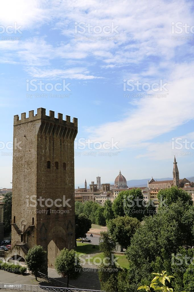 Porta San Niccolò in Florence, Tuscany Italy stock photo