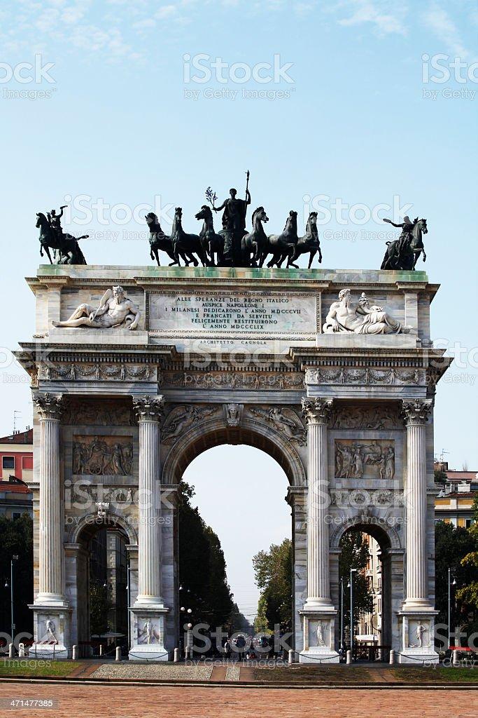Porta Sempione stock photo