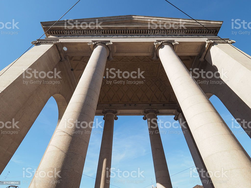 Porta Ticinese in Milan stock photo