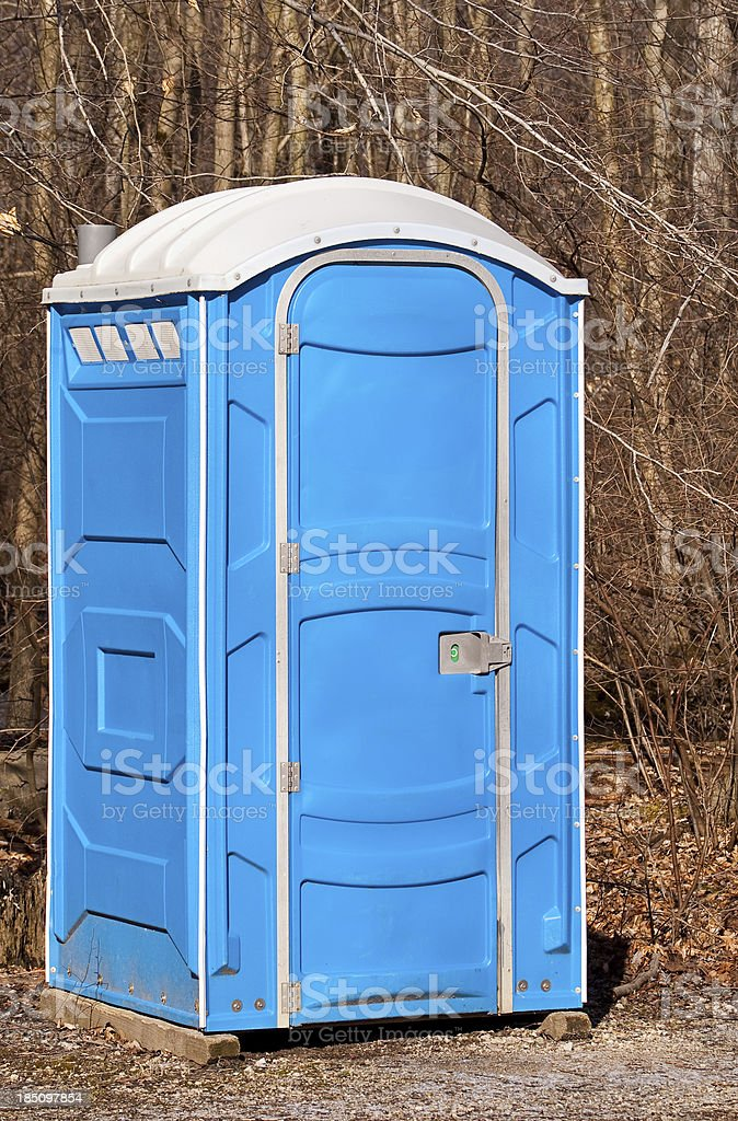 Portabe Toilet stock photo