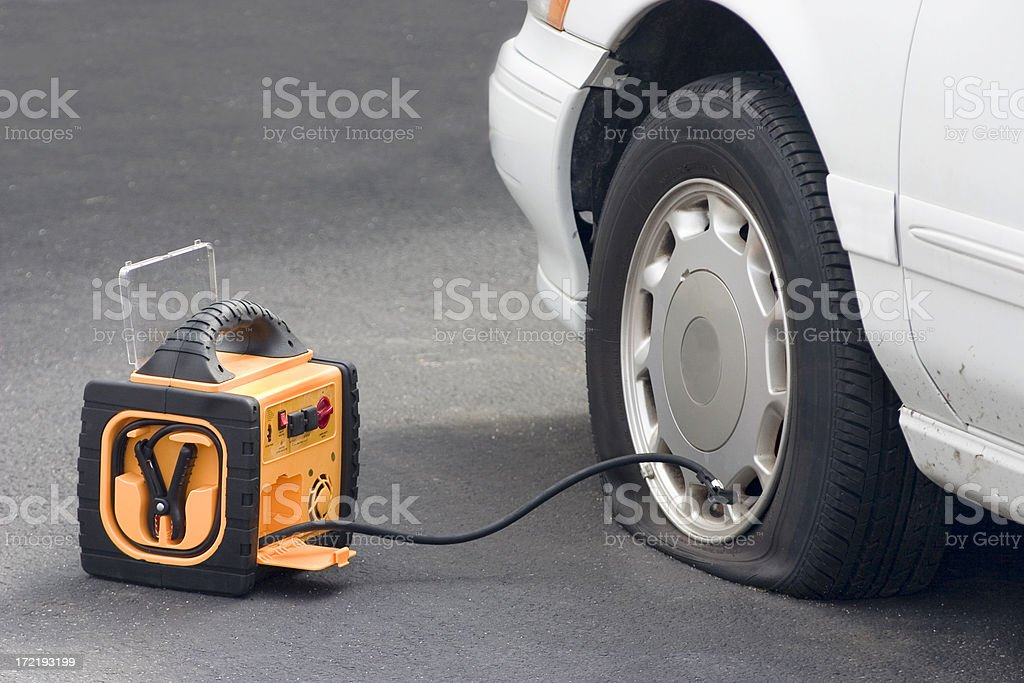 portable air compressor royalty-free stock photo