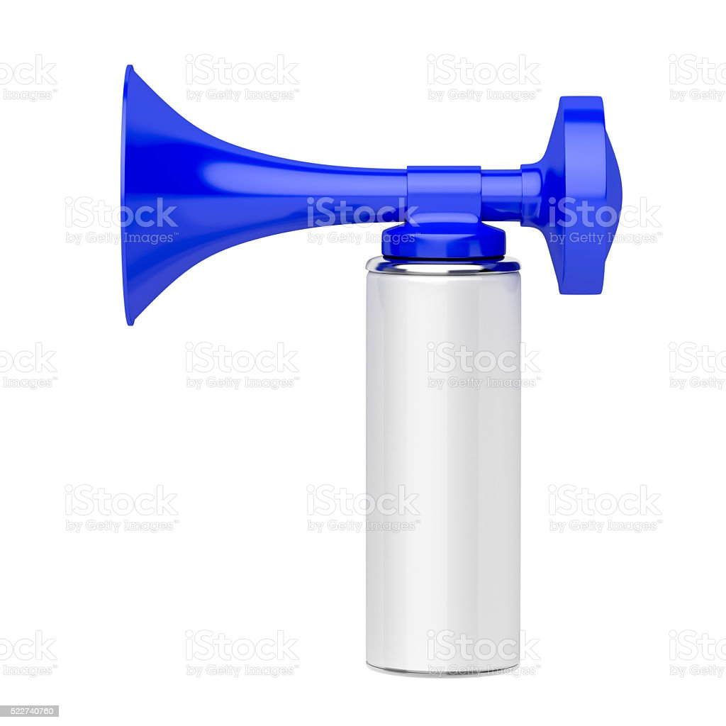 Portable air horn stock photo