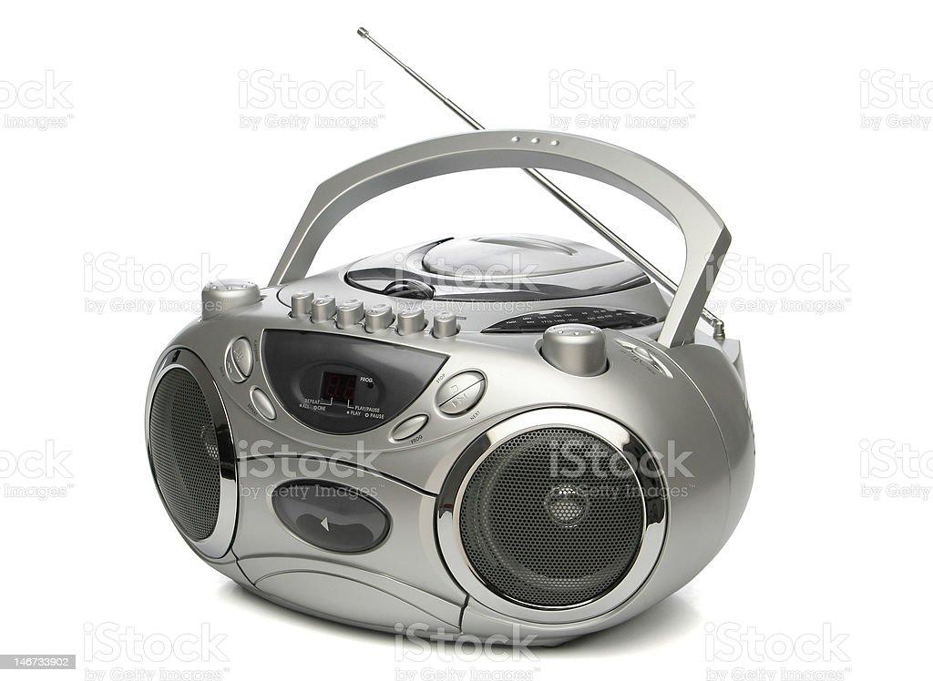 Portable cd mp3 player stock photo