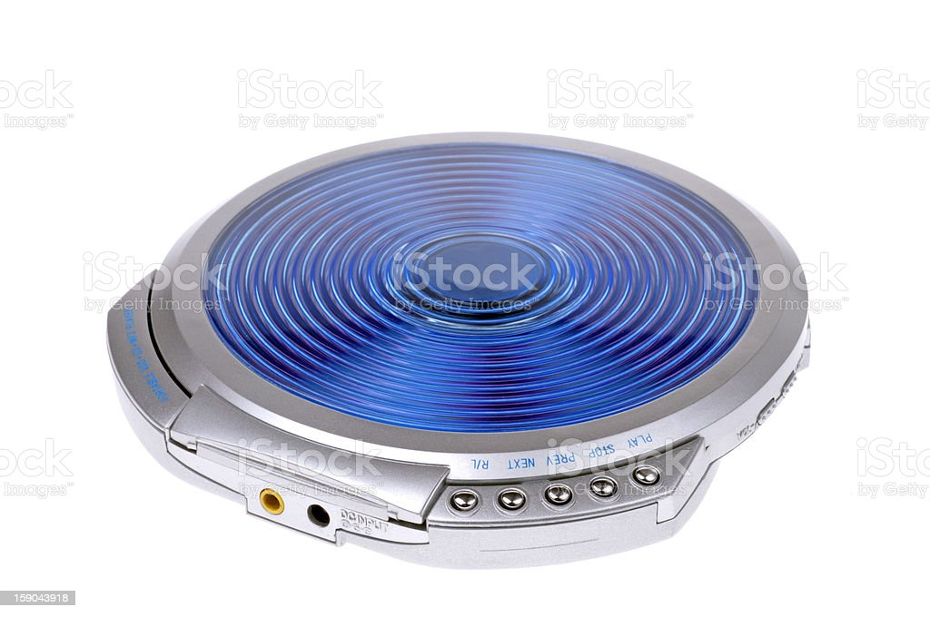 portable cd-player stock photo