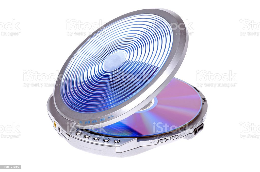 portable cd-player royalty-free stock photo