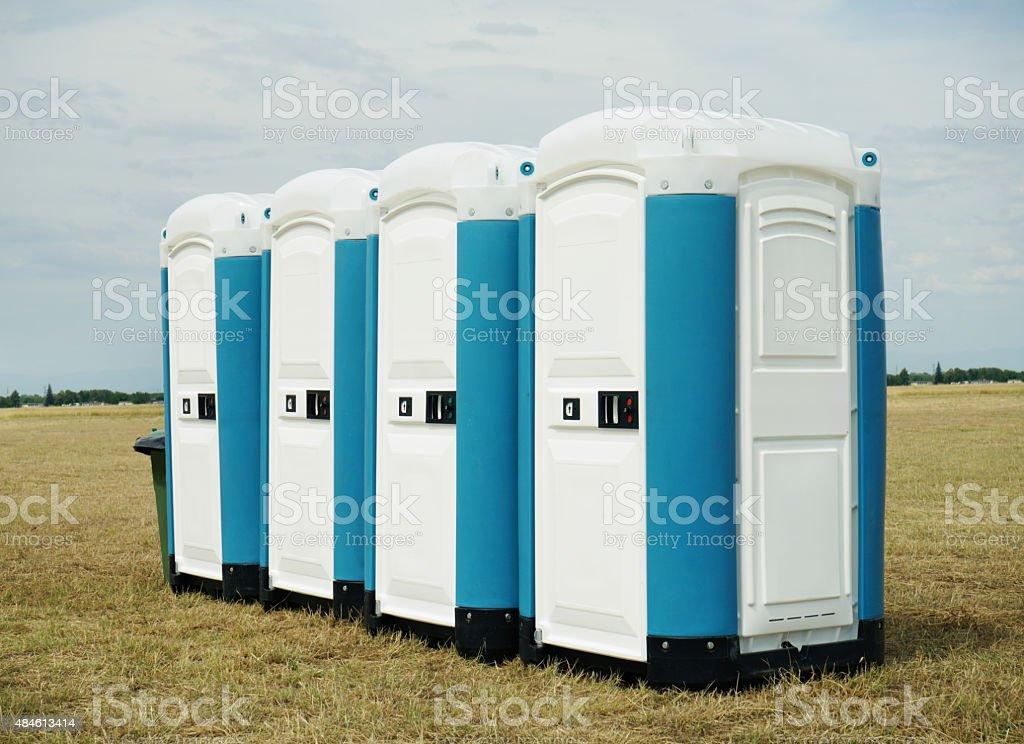 Portable Chemical Toilets stock photo