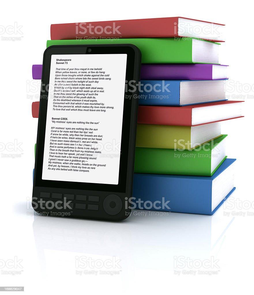 Portable e-book reader royalty-free stock photo