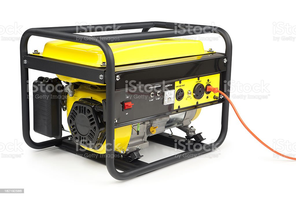 Portable Electric Generator stock photo