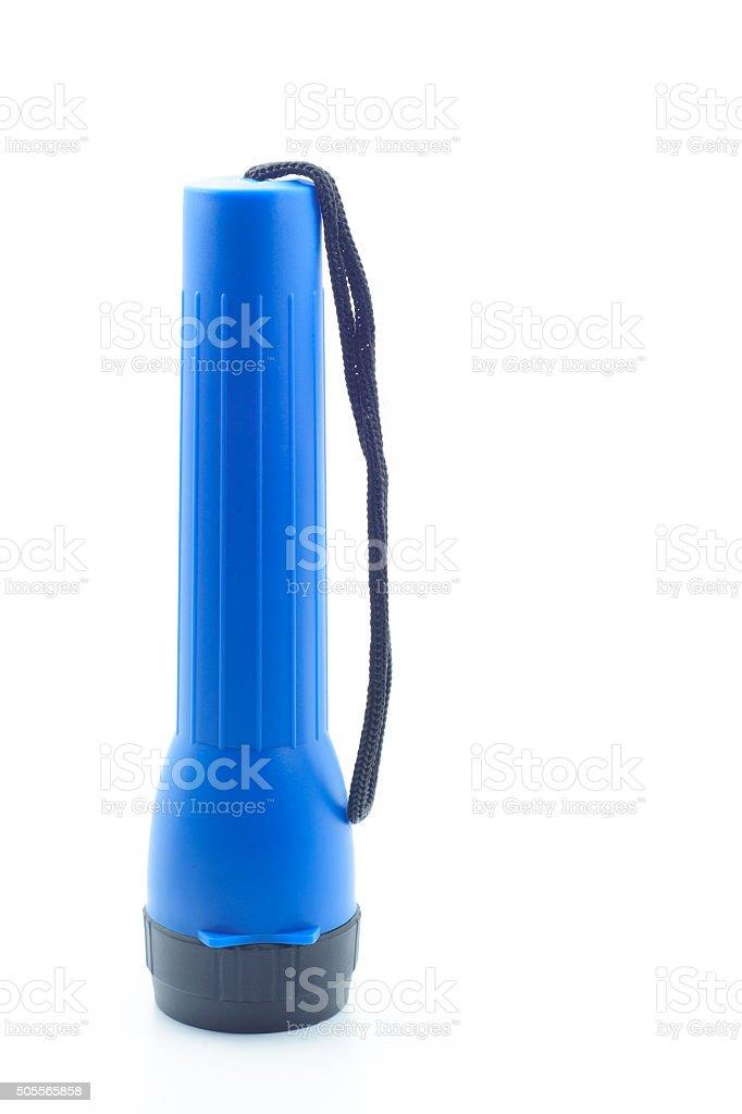 Portable flashlight or tourchlight stock photo