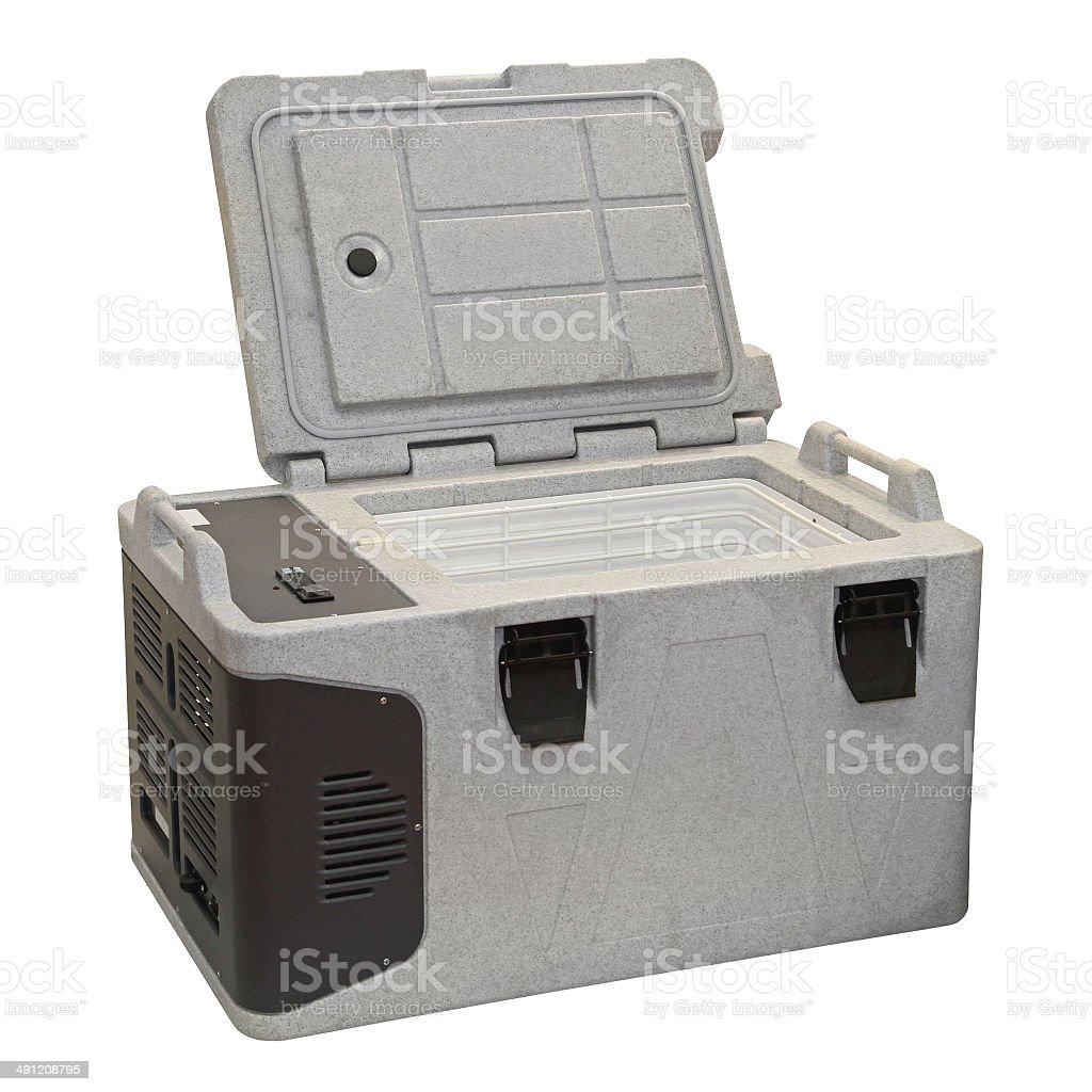 Portable fridge stock photo