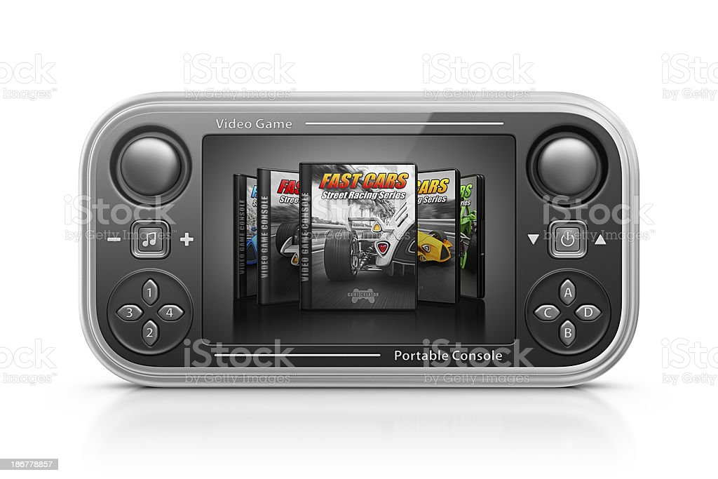 portable game console royalty-free stock photo