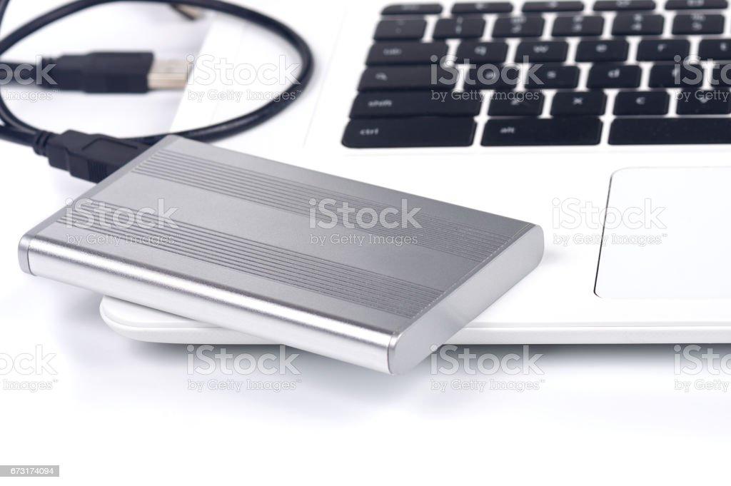 portable hard disk stock photo