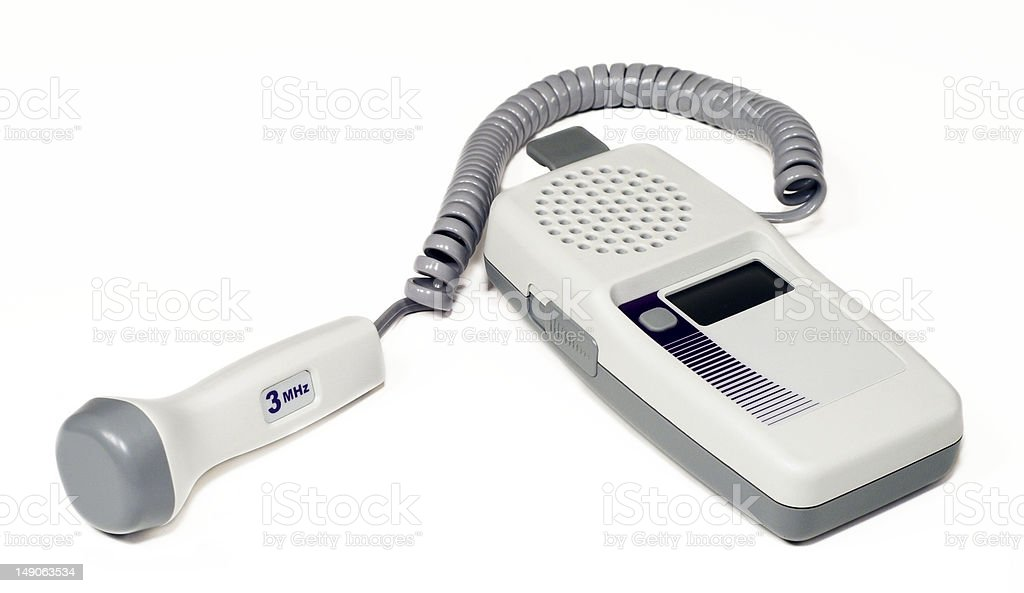 Portable heart rate monitor stock photo