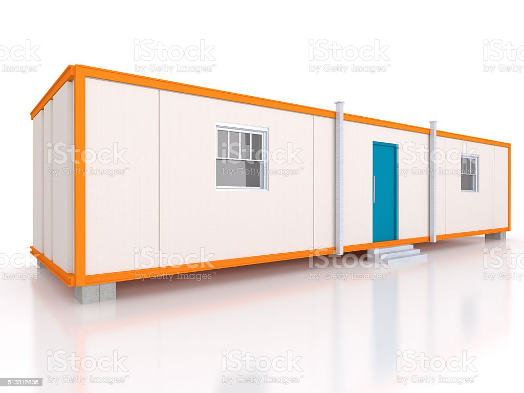Portable house and office cabins stock photo
