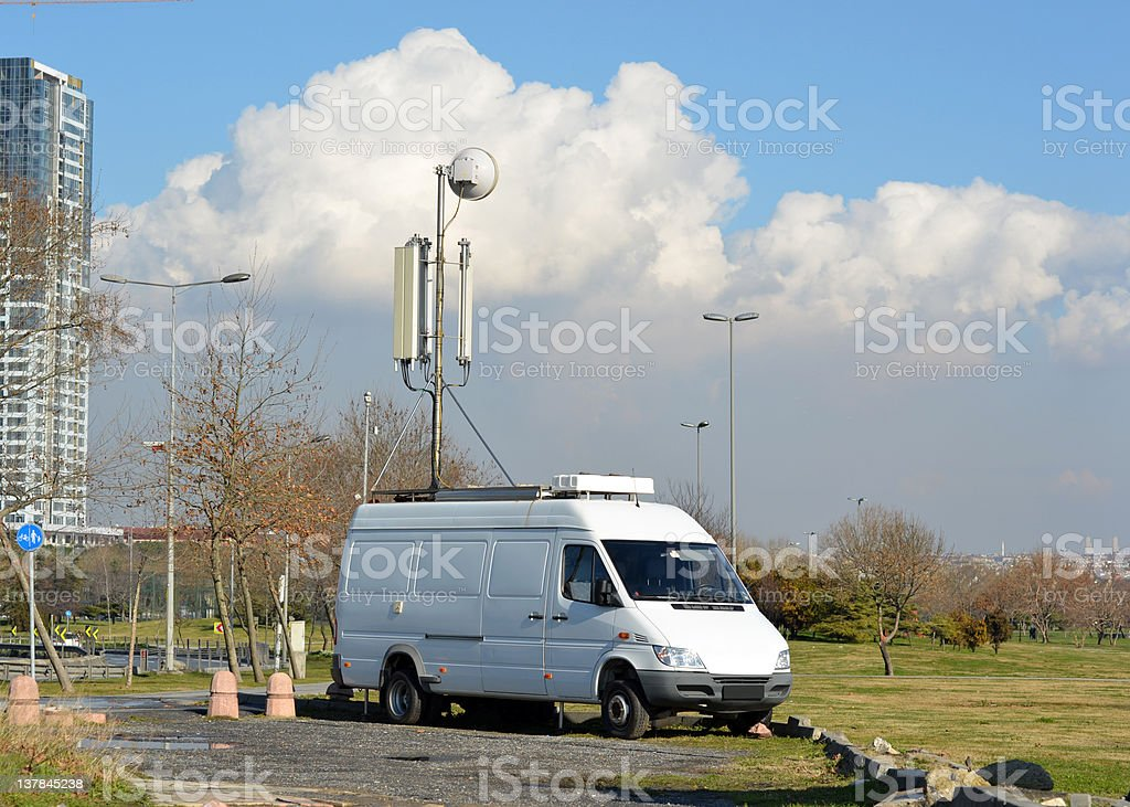 Portable mobile base station royalty-free stock photo