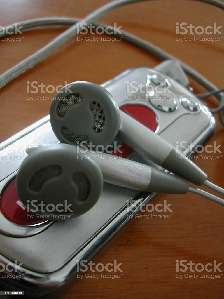 portable mp3 player stock photo