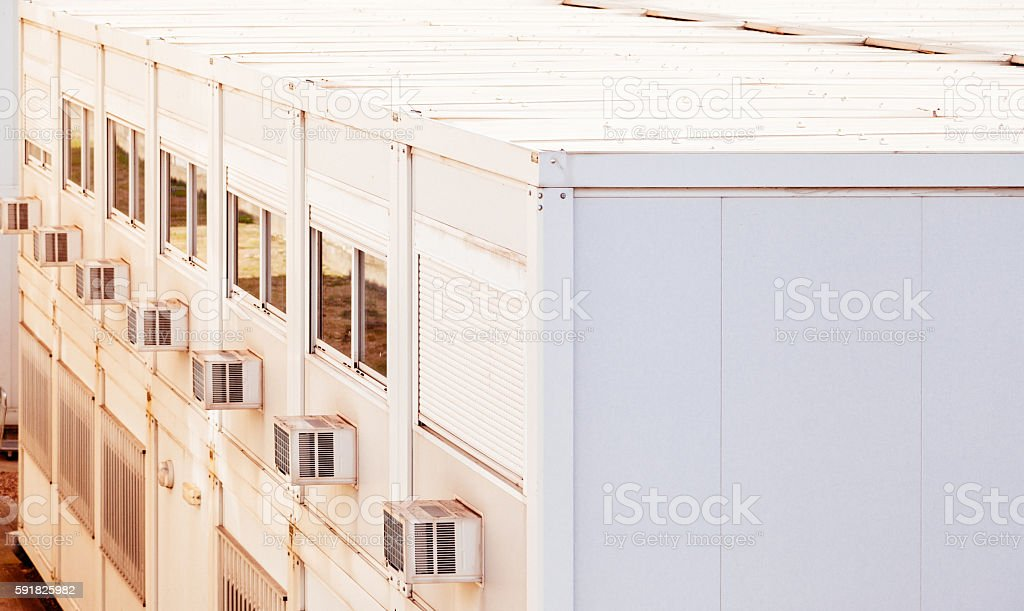 Portable office containers stock photo